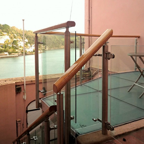 Balcony to Grade II Listed House in Dartmouth